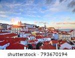 lisbon streets  alfama  | Shutterstock . vector #793670194