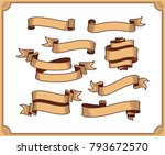 retro ribbon vector graphic... | Shutterstock .eps vector #793672570