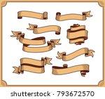 retro ribbon vector graphic... | Shutterstock .eps vector #793672570