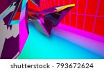 abstract white and colored... | Shutterstock . vector #793672624