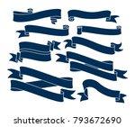 retro ribbon vector graphic... | Shutterstock .eps vector #793672690