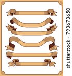 retro ribbon vector graphic... | Shutterstock .eps vector #793673650