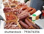 selection of assorted home made ... | Shutterstock . vector #793676356