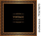 vintage gold background  vector ... | Shutterstock .eps vector #793678870
