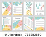 abstract vector layout... | Shutterstock .eps vector #793683850