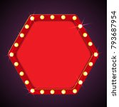 hexagon shining retro light... | Shutterstock .eps vector #793687954