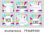 abstract vector layout... | Shutterstock .eps vector #793689400
