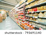 abstract blur supermarket... | Shutterstock . vector #793691140