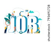 job search  recruitment  hiring ... | Shutterstock .eps vector #793691728