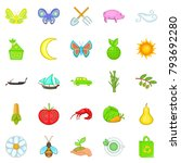ecological icons set. cartoon... | Shutterstock .eps vector #793692280