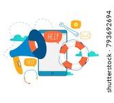 customer service  customer... | Shutterstock .eps vector #793692694