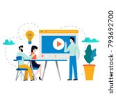 professional training ... | Shutterstock .eps vector #793692700