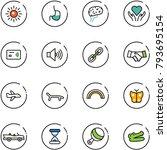 line vector icon set   sun... | Shutterstock .eps vector #793695154