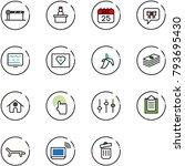 line vector icon set   barrier... | Shutterstock .eps vector #793695430