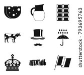 region icons set. simple set of ... | Shutterstock .eps vector #793695763