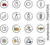 line vector icon set  ...   Shutterstock .eps vector #793697293