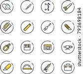 line vector icon set   heart... | Shutterstock .eps vector #793698184