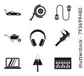 mechanic icons set. simple set...   Shutterstock .eps vector #793699480