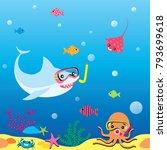 illustration vector of cute...   Shutterstock .eps vector #793699618