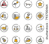 line vector icon set  ... | Shutterstock .eps vector #793700464