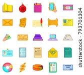 version icons set. cartoon set... | Shutterstock .eps vector #793701304