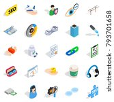 physician icons set. isometric...   Shutterstock .eps vector #793701658