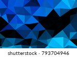 light blue vector polygonal... | Shutterstock .eps vector #793704946