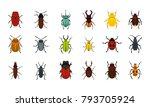 bugs icon set. flat set of bugs ... | Shutterstock .eps vector #793705924