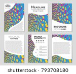 abstract vector layout... | Shutterstock .eps vector #793708180