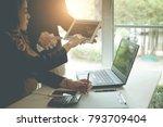 business team corporate people... | Shutterstock . vector #793709404