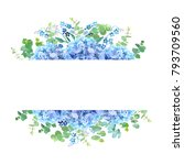 horizontal botanical vector... | Shutterstock .eps vector #793709560