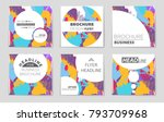 abstract vector layout... | Shutterstock .eps vector #793709968