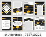 abstract vector layout... | Shutterstock .eps vector #793710223