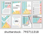 abstract vector layout... | Shutterstock .eps vector #793711318