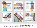 abstract vector layout...   Shutterstock .eps vector #793717213