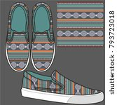 the idea for shoes. printed... | Shutterstock .eps vector #793723018