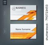 corporate business card.... | Shutterstock .eps vector #793723453