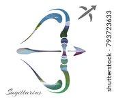 zodiac sign sagittarius. vector ...   Shutterstock .eps vector #793723633