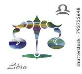 zodiac sign libra. vector... | Shutterstock .eps vector #793723648