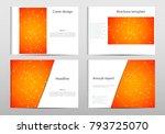 rectangle brochure template... | Shutterstock .eps vector #793725070