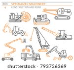 special industrial construction ... | Shutterstock .eps vector #793726369