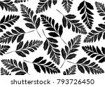 tropical leaves pattern. ... | Shutterstock .eps vector #793726450