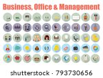 business icons set. icons for... | Shutterstock .eps vector #793730656