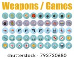 vector games weapons  | Shutterstock .eps vector #793730680