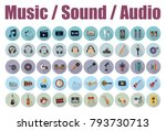 music  sound and audio icons | Shutterstock .eps vector #793730713
