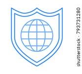 shield secure world | Shutterstock .eps vector #793731280