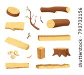 planks from trees and different ... | Shutterstock .eps vector #793732156
