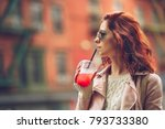 attractive young woman in new... | Shutterstock . vector #793733380