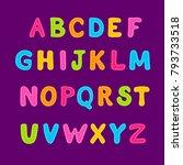 cartoon bubble colorful... | Shutterstock .eps vector #793733518