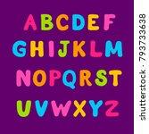 cartoon bubble colorful... | Shutterstock .eps vector #793733638